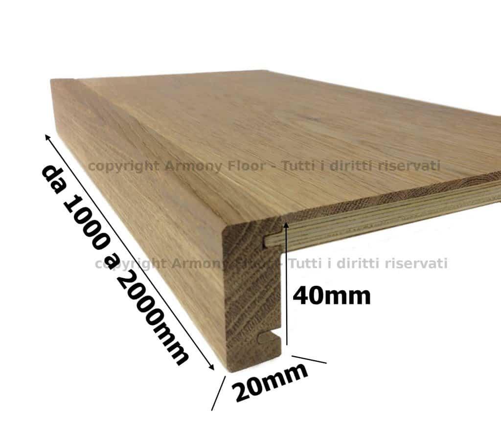 Rivestimento scale in legno toro scalino in rovere massello for Rivestimento scale in resina prezzi