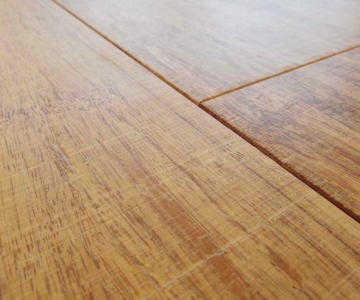 Strand woven bamboo flooring, sawn, thermo light