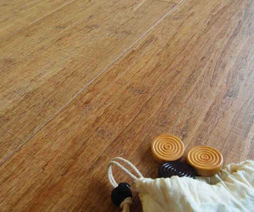 Strand woven bamboo flooring, sawn, thermo