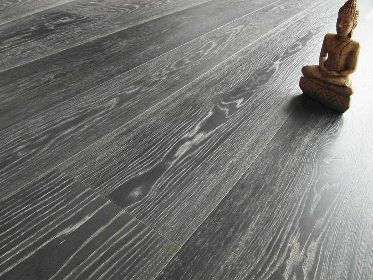 Pickled Grey Engineered Oak Flooring Italy Prefinished 2 Ply