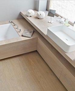 Naturalized oak flooring