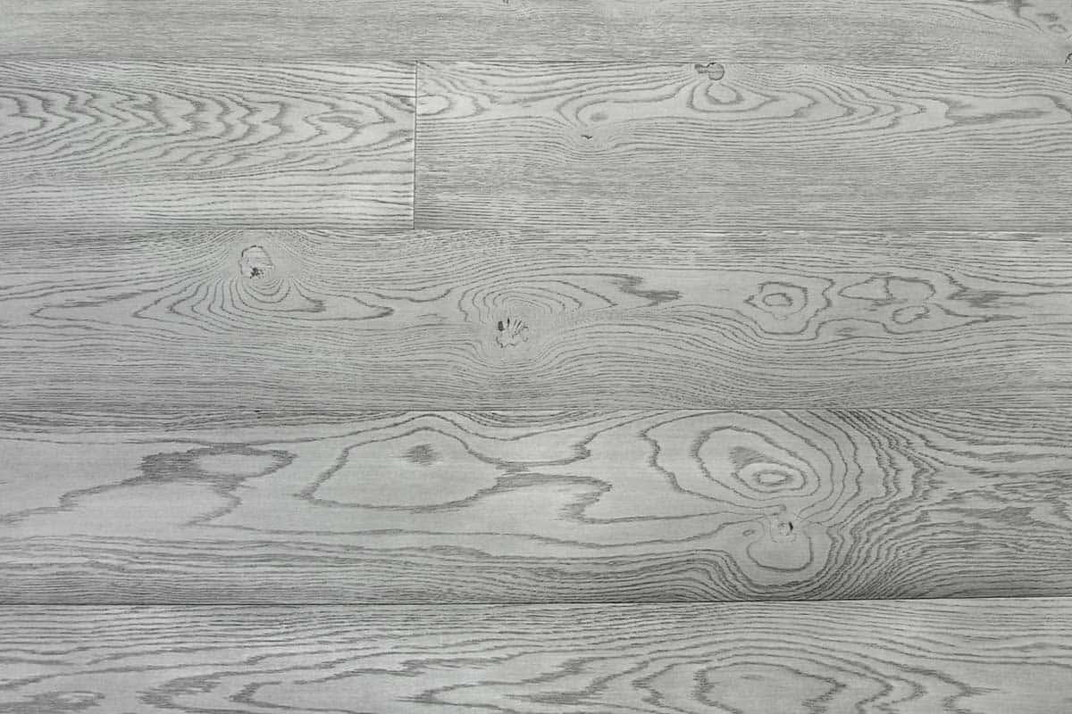 Pickled Ash Oak Flooring, Italy: engineered, grey black