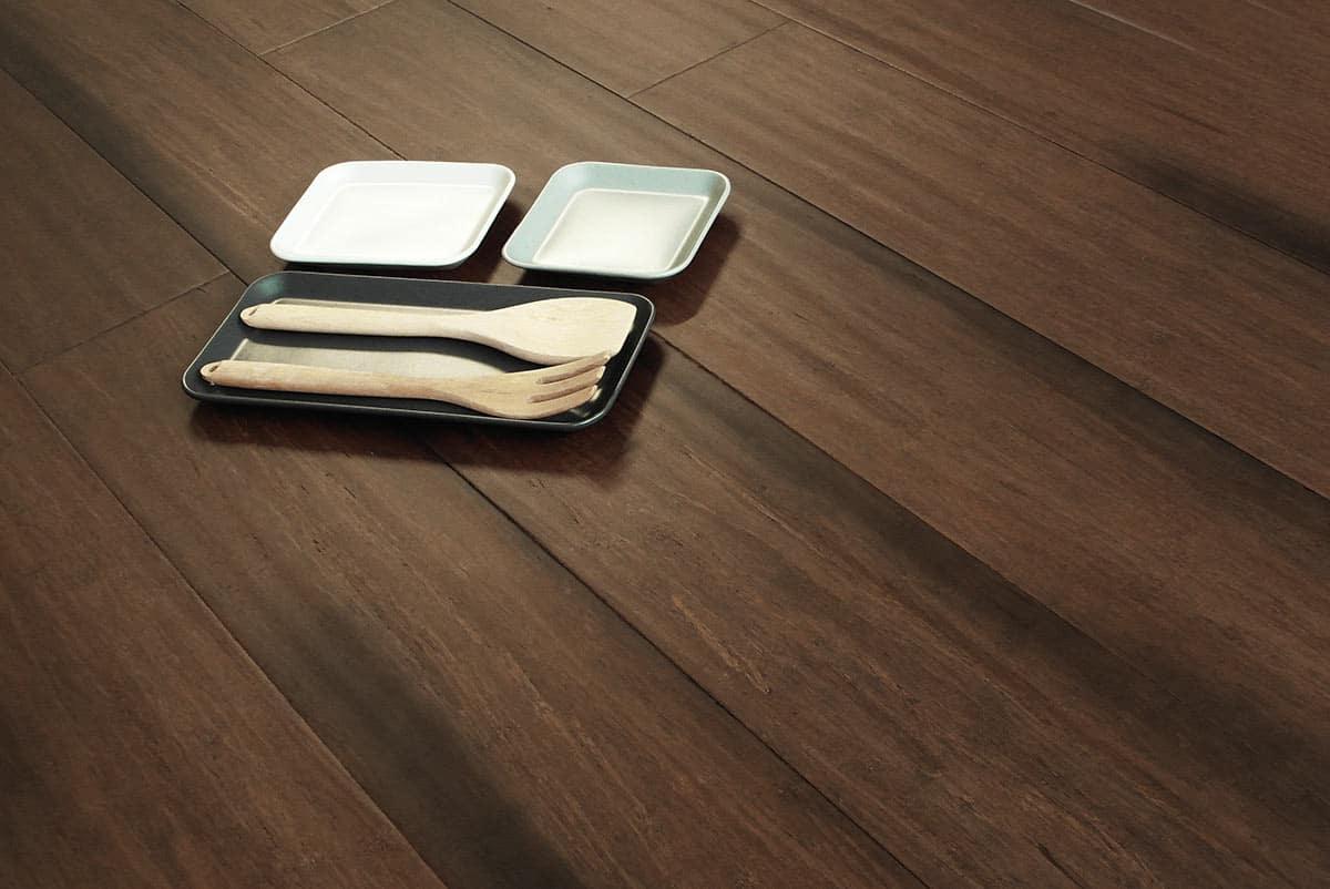 Parquet bamboo maxi plancia brown strand woven for Parquet armony floor
