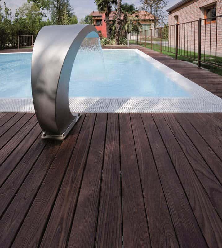Parquet frassino decking massello per esterni termotrattato - Bordo piscina prezzi ...