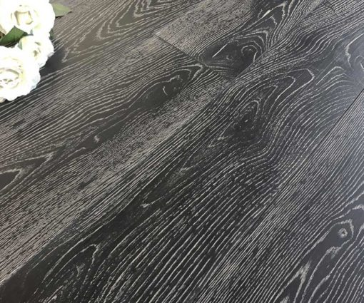 Parquet rovere Decapato Nero Country Made in Italy 01