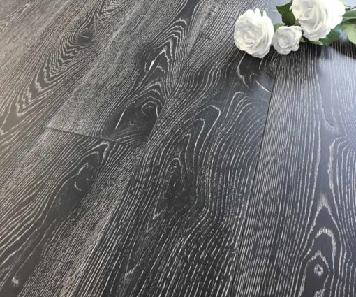Parquet rovere Decapato Nero Country Made in Italy 02