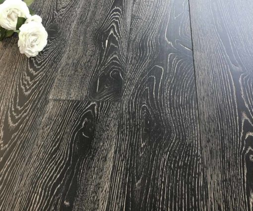 Parquet rovere Decapato Nero Country Made in Italy 03