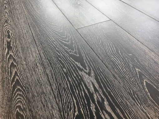 Parquet rovere Decapato Nero Country Made in Italy 05