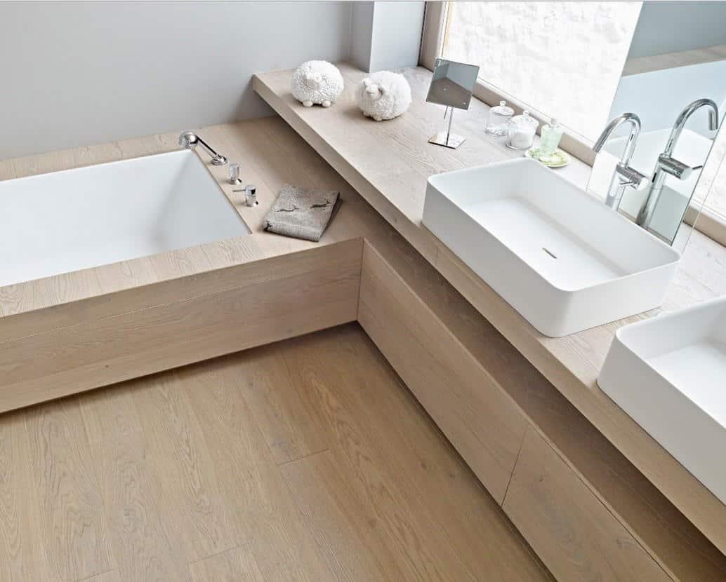 Parquet rovere spazzolato naturalizzato linea natura - Pavimento in legno per bagno ...