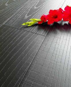 Parquet Rovere Nero Carbon (Nero Assoluto con Taglio Sega) 001