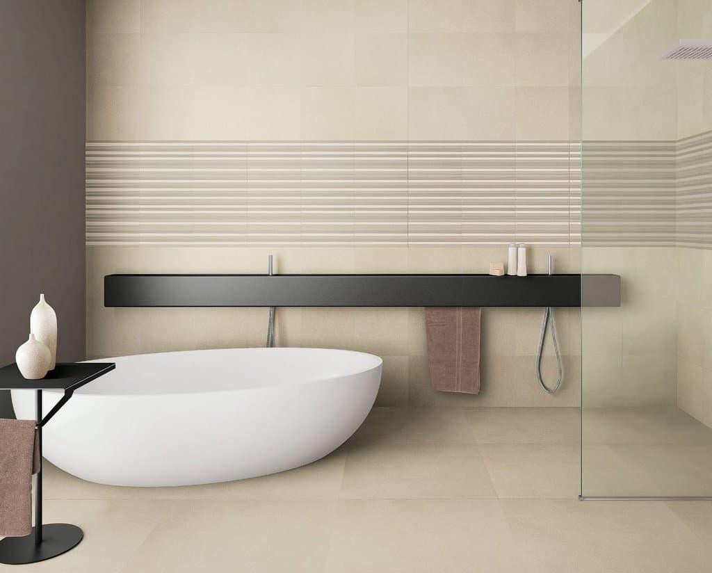 Gres porcellanato finto cemento piastrelle spazio - Costo posa piastrelle bagno ...