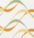 Rivestimento ceramica Fresh | Inserto Onde Arancio Verde
