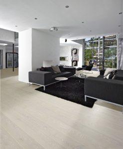 White bleached oak flooring