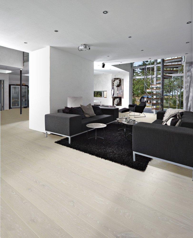 Prefinished Bleached White Oak Flooring: Multi-ply Wide Plank