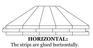 Horizontal bamboo flooring details