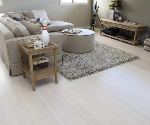 Strand woven bleached bamboo flooring 4