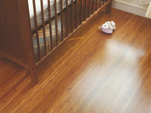Strand woven carbonized bamboo flooring 1