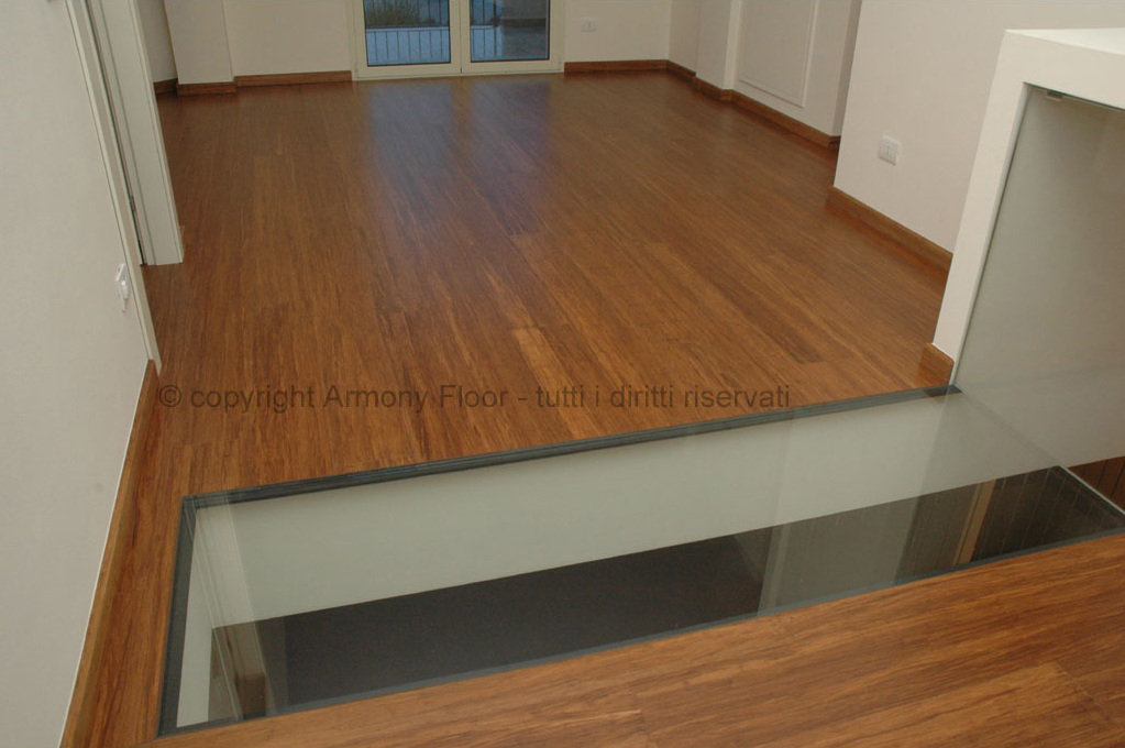 Carbonized Strand Bamboo Flooring: prefinished wide plank