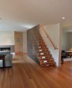 Vertical carbonized bamboo flooring 1