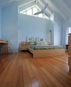 Vertical carbonized bamboo flooring 2