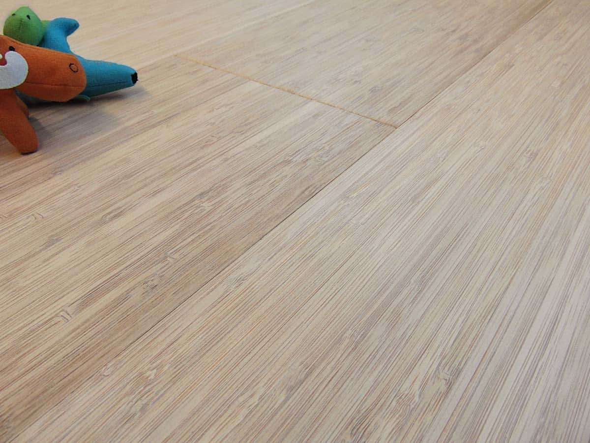 engineered bamboo flooring vertical bleached thermo italy
