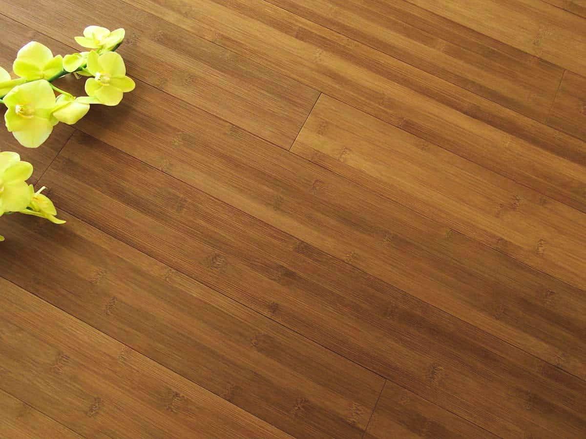 Bamboo Hardwood Flooring: carbonized horizontal plank