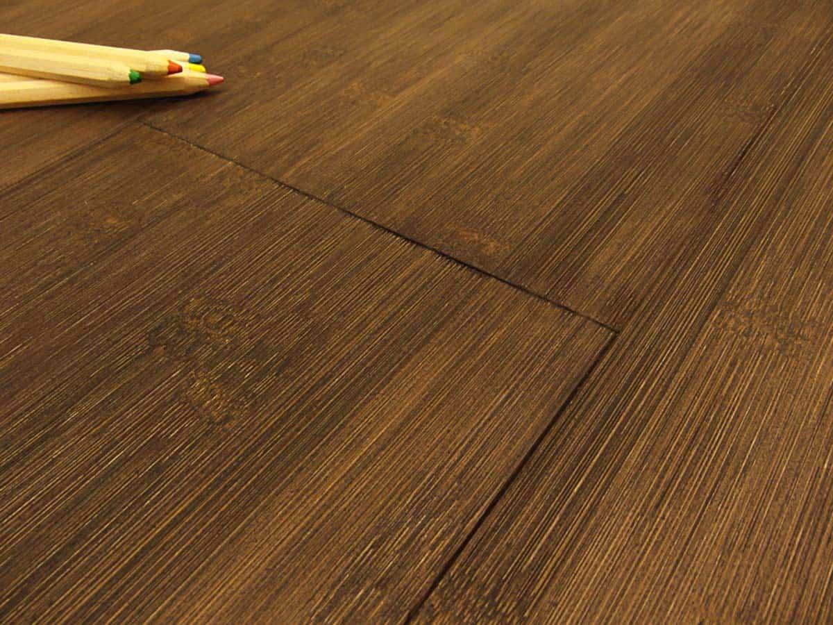 Engineered bamboo wide plank horizontal teak italy for Engineered bamboo flooring
