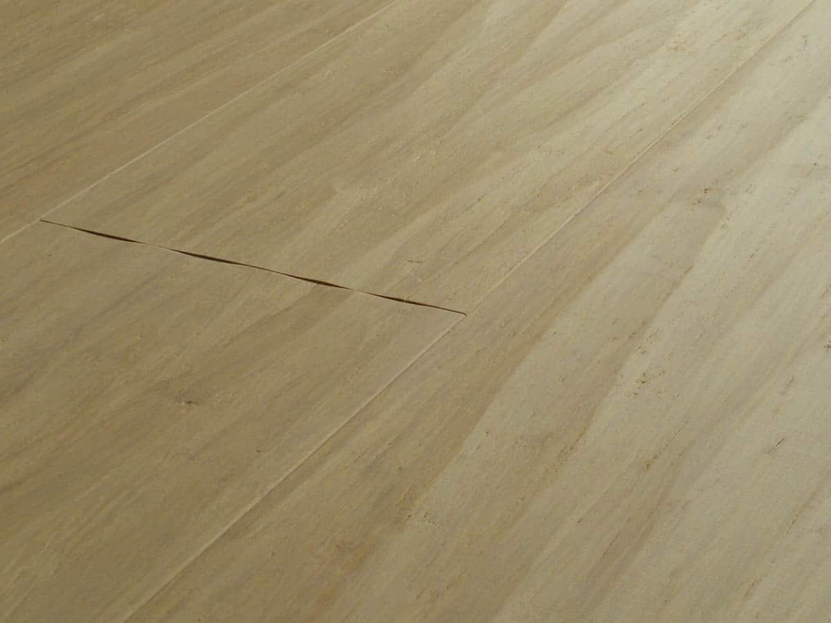 Engineered strand woven bamboo flooring bleached wide plank for Engineered bamboo flooring