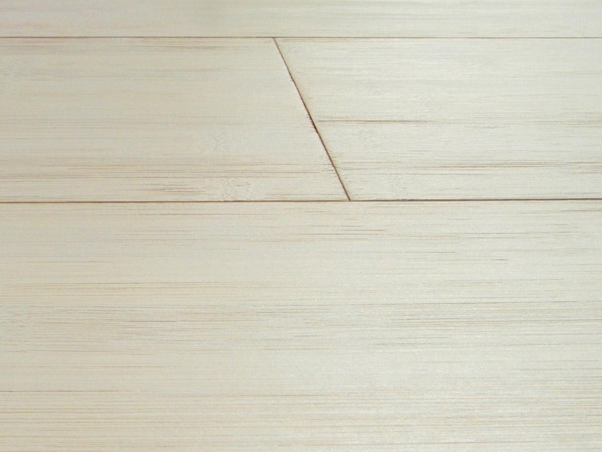 2 Ply Bamboo Flooring Horizontal White Bleached Italian