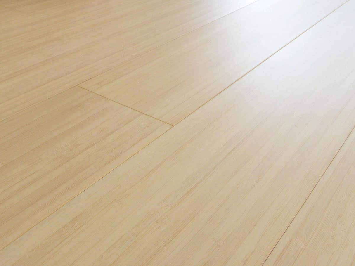 Solid Bamboo Flooring Prefinished Bleached Vertical Plank