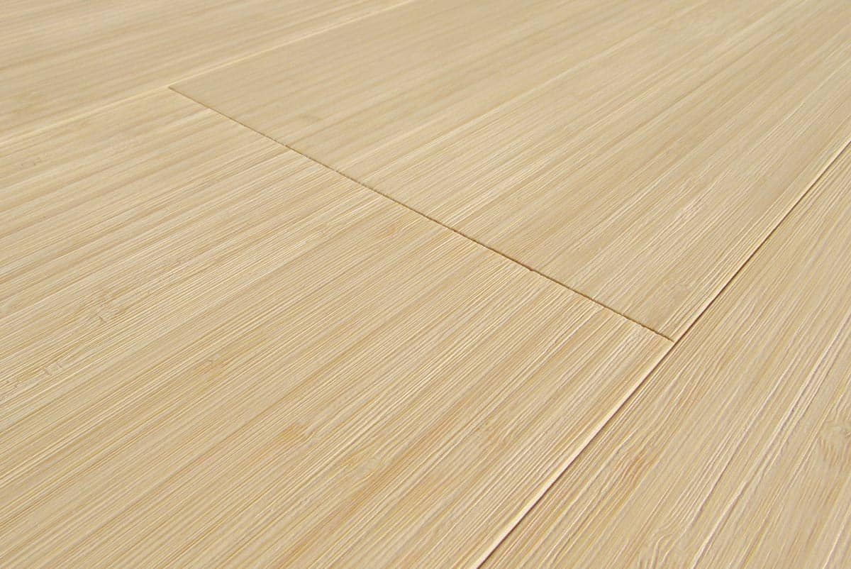 Engineered bamboo flooring vertical bleached wide plank for Engineered bamboo flooring