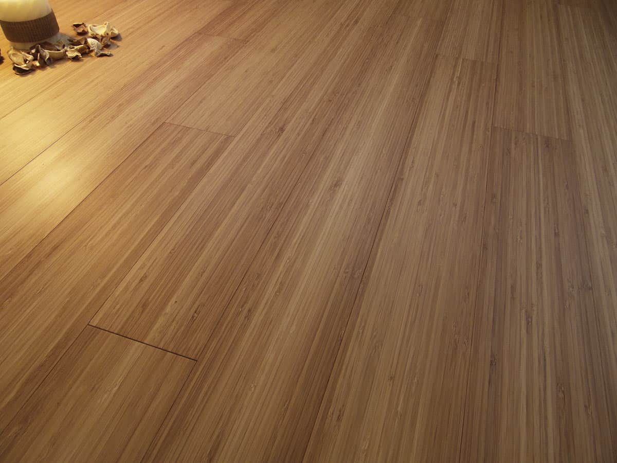 Solid Bamboo Flooring: prefinished carbonized vertical plank